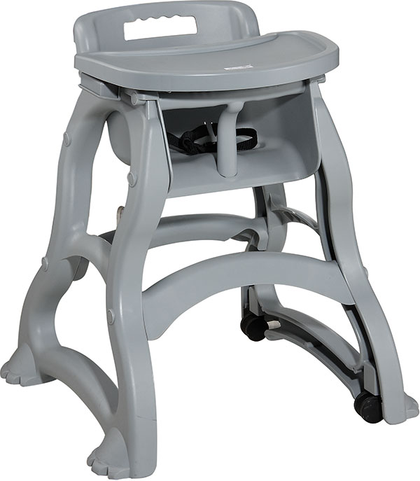 Baby High Chair Wth Tray Grey