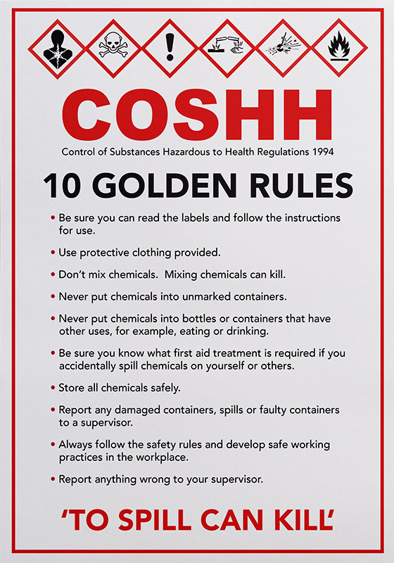 10 Golden Rules of COSHH S/A – Cork Click & Collect – Musgrave ...