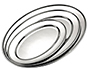 Meat Flat Oval Stainless Steel