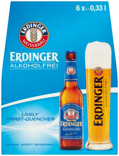 Erdinger Non Alcoholic Bottle 6 Pack