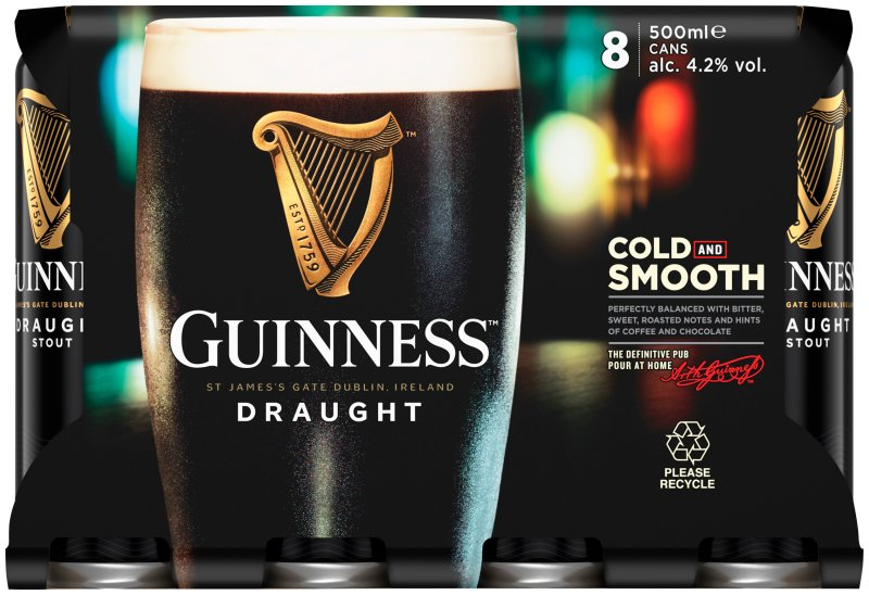 Guinness Draught Can 8 Pack