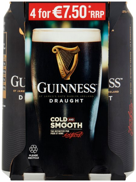 Guinness 4 Pack Can PMP E7.50