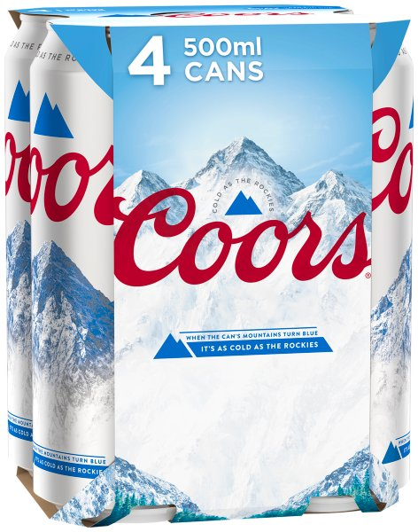 Coors Light Can 4%