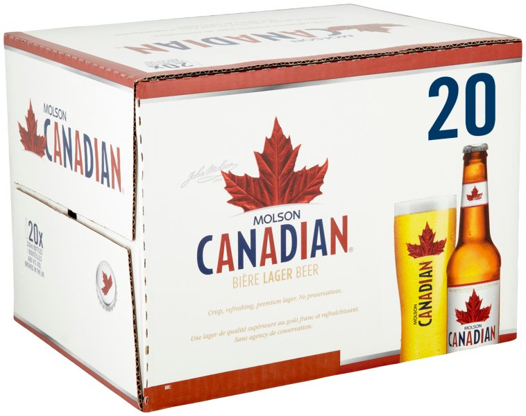 Molson Canadian Bottle 20 Pack