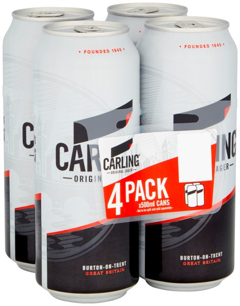 Carling 6x4pk 500mls Cans