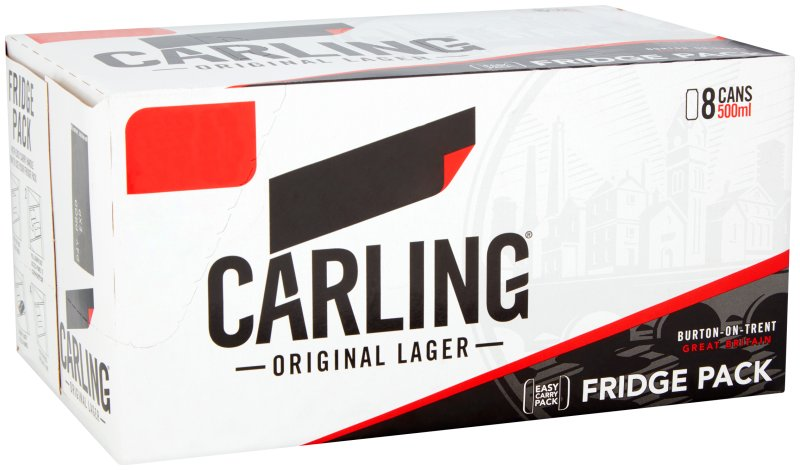 Carling Can 8 pk PMP E10.00