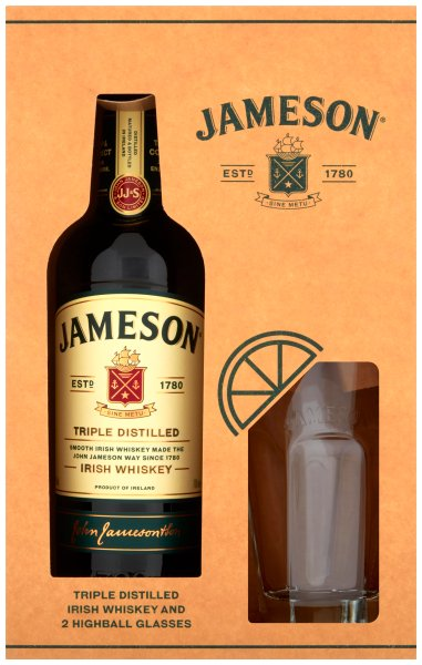 Jameson glass gift pack