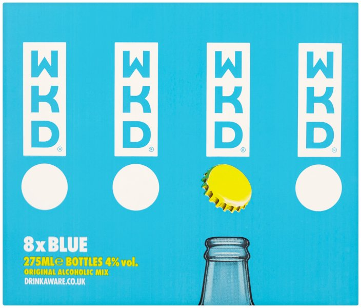 Wkd Vodka Blue 8 Pack 4%