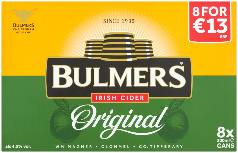 Bulmers 8 Pack Cans PMP E13.00