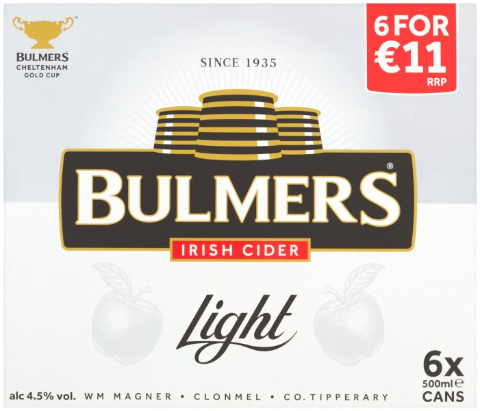 Bulmers Light 6 Pack Cans PMP E11.00