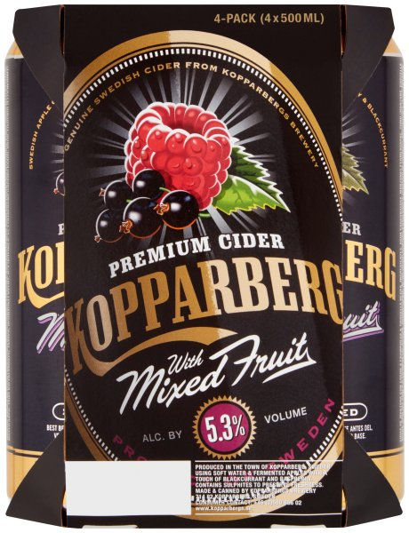 Kopparberg Mixed Fruit cans pmp euro 10.00